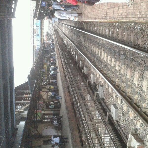 Photo taken at Dadar Railway Station by Saurav B. on 7/13/2013