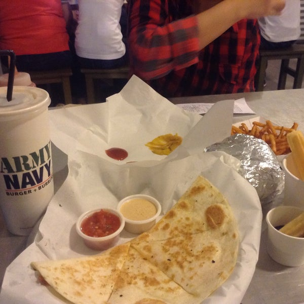 Photo taken at Army Navy Burger + Burrito by Candy A. on 9/24/2015