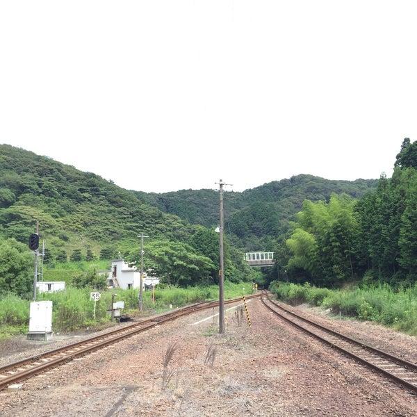 Photo taken at Futaminoura Station by natsupato k. on 7/24/2016
