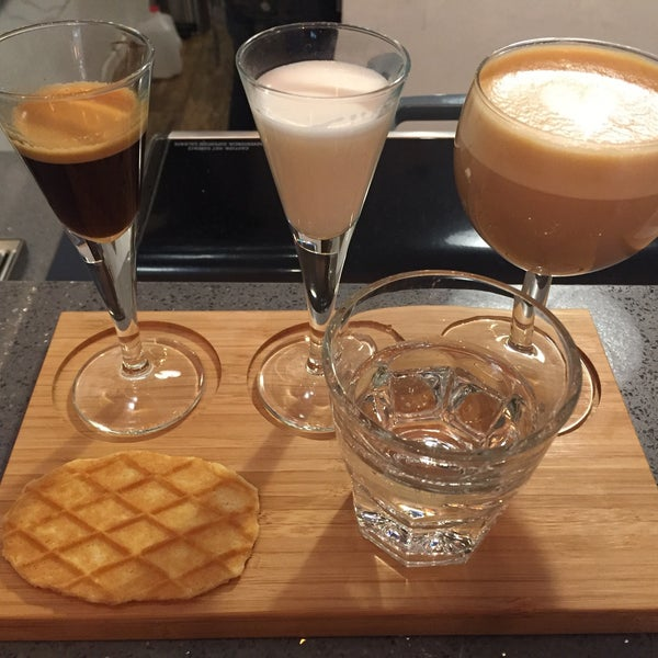 Try Project #1: The deconstructed latte. Espresso then steamed milk and then your latte. A great way to taste all the flavours.