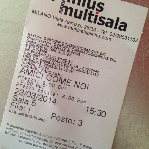 Foto scattata a Cinema Plinius Multisala da Marigo il 3/24/2014