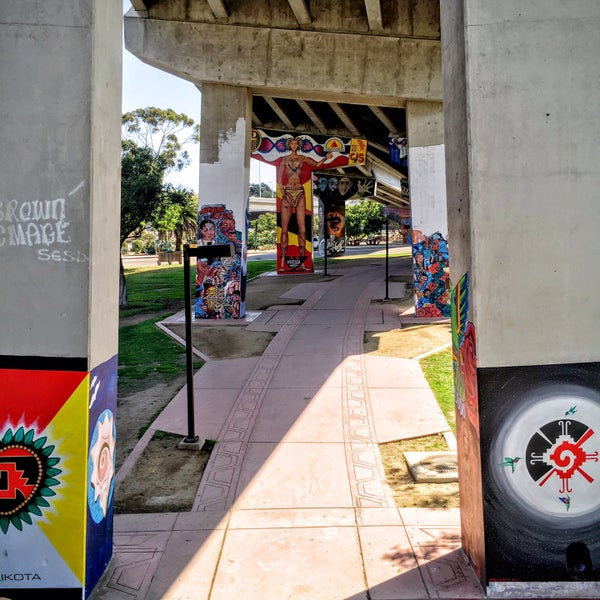 Photo taken at Chicano Park by Lee on 8/28/2016