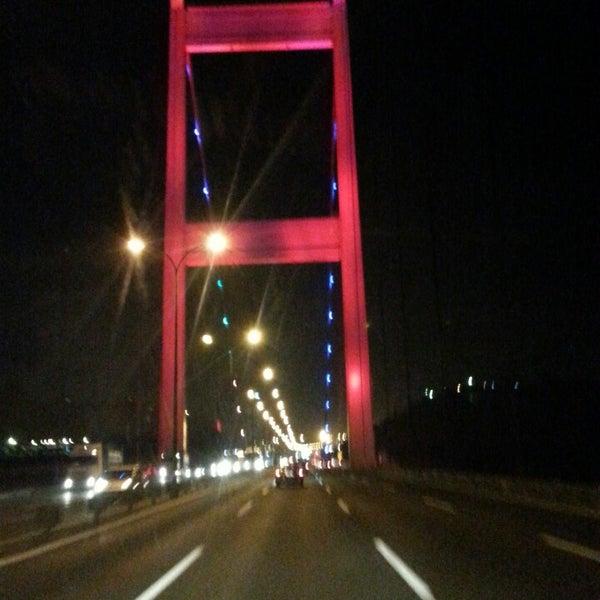 Photo taken at Fatih Sultan Mehmet Bridge by Yunus Emre A. on 7/13/2013