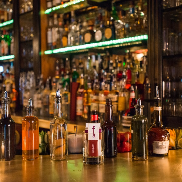 The swanky bar pays homage to the allure and mystery of prohibition speakeasies. Expert mixologists create whimsical cocktails for even the most novice of drinkers.