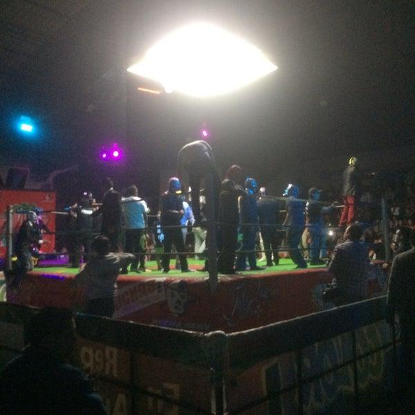 Photo taken at Arena Adolfo Lopez Mateos by Daniel C. on 12/22/2013