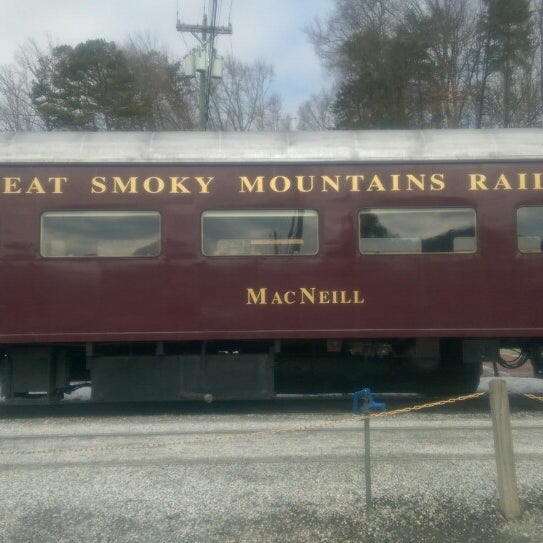 Photo taken at Great Smoky Mountain Railroad by Rachael S. on 2/28/2015