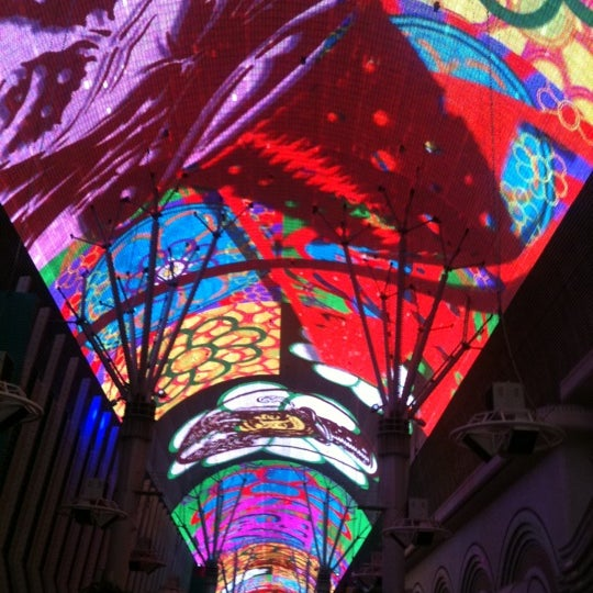 Photo taken at Fremont Street Experience by Rina R. on 4/9/2013
