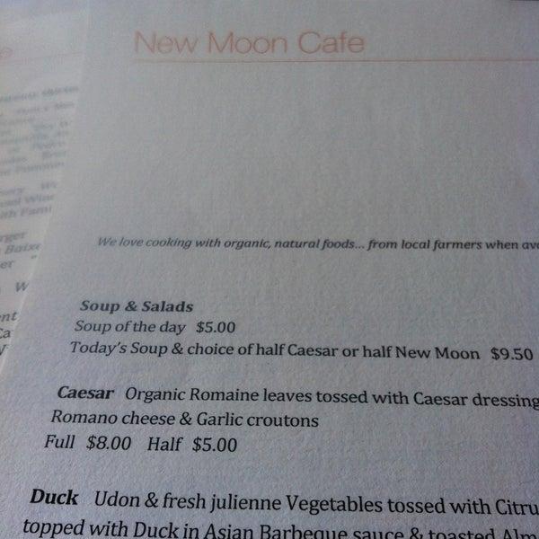 New Moon Cafe Nevada City Menu