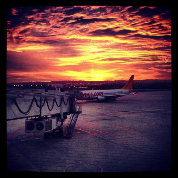 Photo taken at Istanbul Sabiha Gökçen International Airport (SAW) by Ümit Y. on 7/27/2013