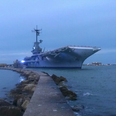 Photo taken at USS Lexington Museum On The Bay by Nick M. on 10/16/2012