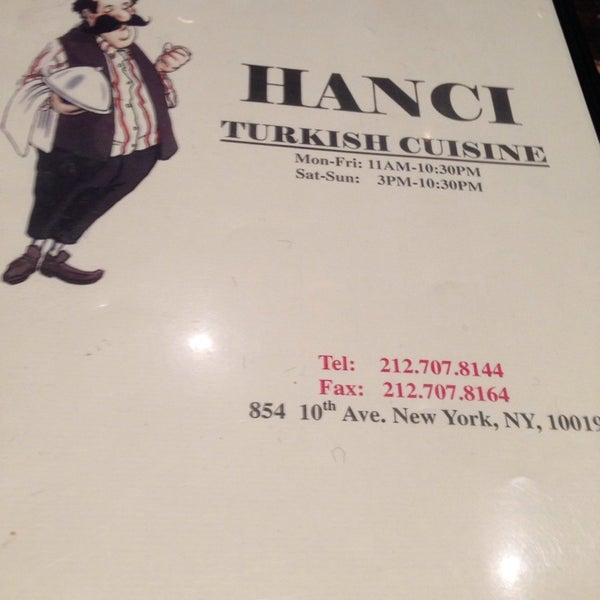 Photo taken at Hanci Turkish Cuisine by Kathy E. on 5/7/2014