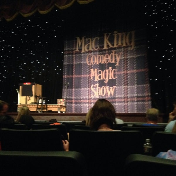 Photo taken at The Mac King Comedy Magic Show by Cathy C. on 4/16/2014
