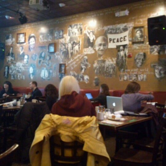 Photo taken at Busboys and Poets by Alma L. on 2/20/2013