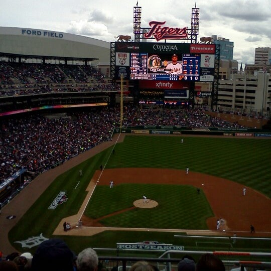 Photo taken at Comerica Park by Trevor D. on 10/7/2012