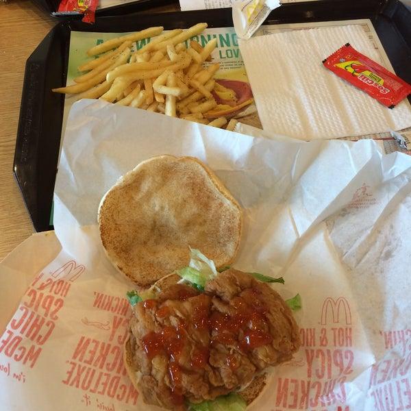 Spicy chicken mc deluxe!! 😎
