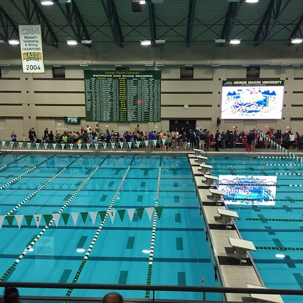 Photo taken at Aquatic and Fitness Center - George Mason University by Tom P. on 12/6/2014