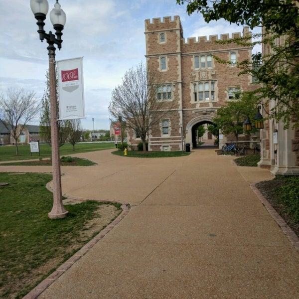 Photo taken at Washington University by Rory P. on 4/14/2017