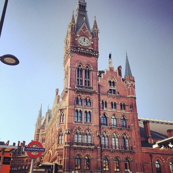 Photo taken at London St Pancras International Railway Station (STP) by Ursie D. on 7/28/2013