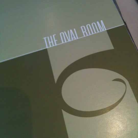 The Oval Room Lunch Menu