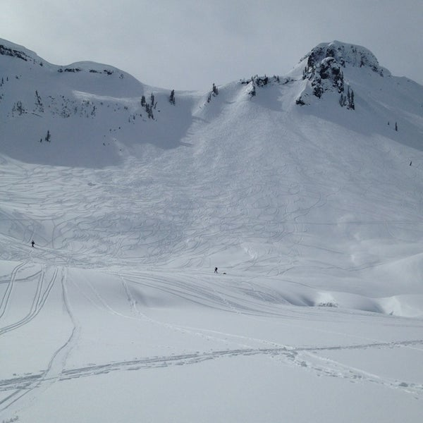 Blueberry chutes ski trail for Chair 6 mt baker