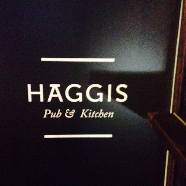 Photo taken at Haggis Pub & Kitchen by Ekaterina Z. on 6/7/2014