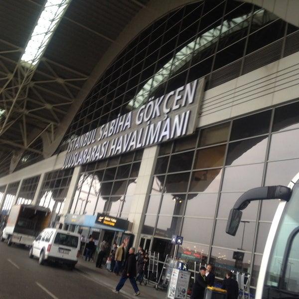Photo taken at Istanbul Sabiha Gökçen International Airport (SAW) by Ömer Sabri K. on 11/14/2013