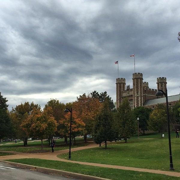 Photo taken at Washington University by Stephanie . on 10/12/2015
