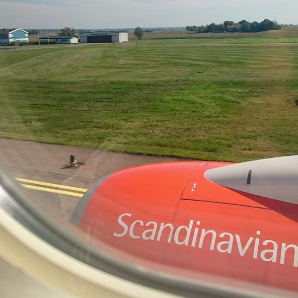 Photo taken at Ängelholm-Helsingborg Airport (AGH) by Johan W. on 8/26/2016