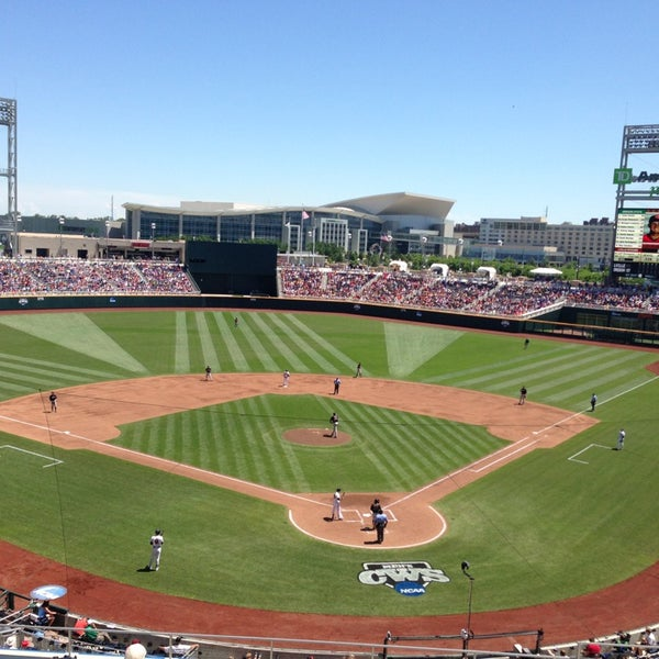 Photo taken at TD Ameritrade Park by Jill Y. on 6/17/2013