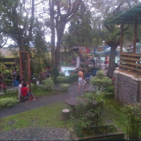 Photo taken at Taman Wisata Air Panas Guci by Della C. on 11/22/2015