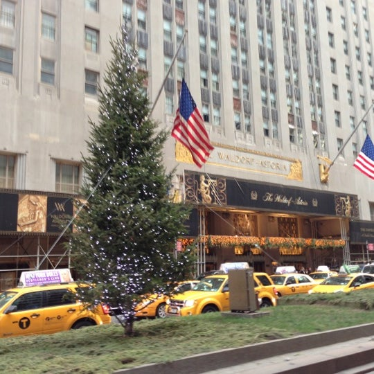 Photo taken at Waldorf Astoria New York by Ryan C. on 12/15/2012
