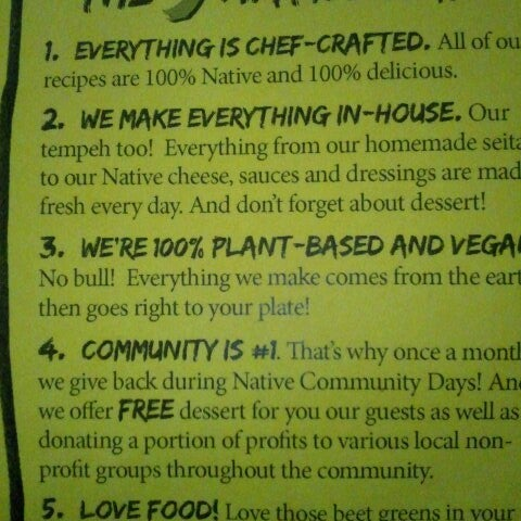 Photo taken at Native Foods by Elsa on 1/25/2013