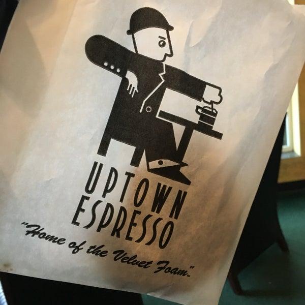 Photo taken at Uptown Espresso by Connie C. on 4/22/2017