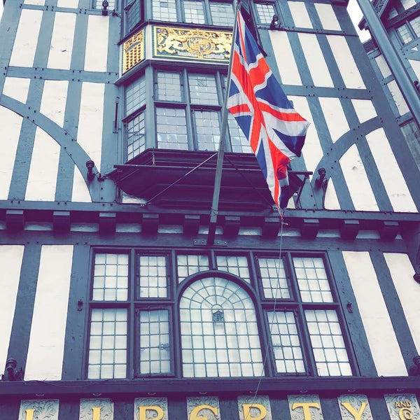 Photo taken at Liberty of London by Fahad on 8/12/2017