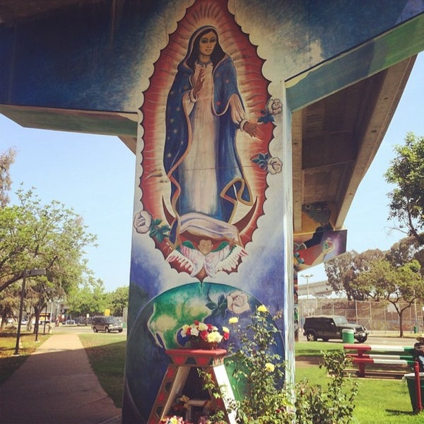 Photo taken at Chicano Park by Eric B. on 6/21/2014