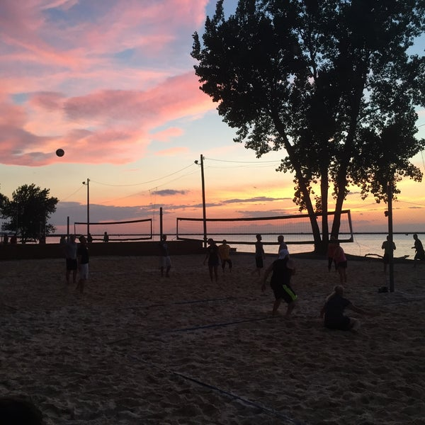 Photo taken at Whiskey Island Volleyball Courts by Gregory W. on 7/15/2016