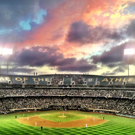 Photo taken at O.co Coliseum by Charles P. on 10/11/2012