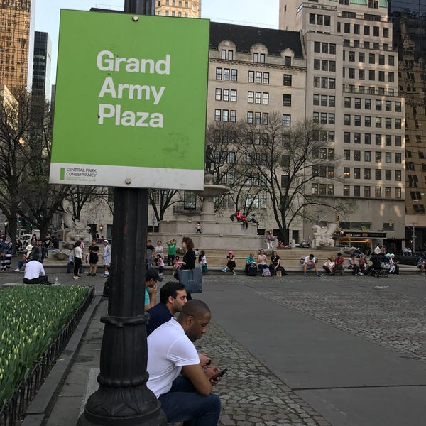 Photo taken at Grand Army Plaza by Karla C. on 4/16/2017