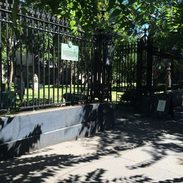 Photo taken at New York City Marble Cemetery by Brian D. on 9/14/2014