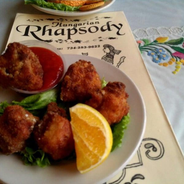 Rhapsody Restaurant Menu