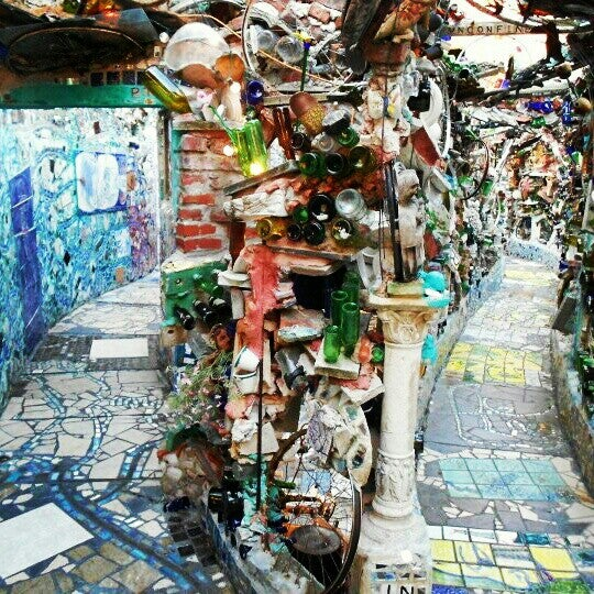 Photo taken at Philadelphia's Magic Gardens by Catherine Z. on 12/31/2012