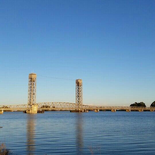 Photo taken at Rio Vista Bridge by elyse m. on 12/26/2015