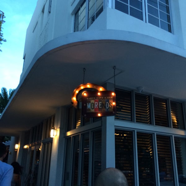 Photo taken at Moreno's Cuba, South beach by Juney H. on 5/31/2015