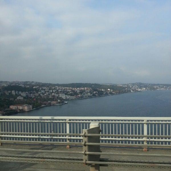 Photo taken at Fatih Sultan Mehmet Bridge by Tahsin D. on 11/2/2013