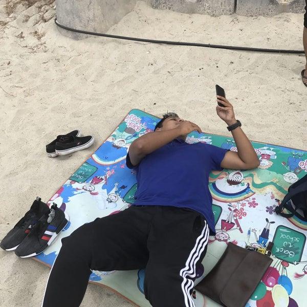 Photo taken at Teluk Bahang Beach by Eusoff V. on 4/23/2017