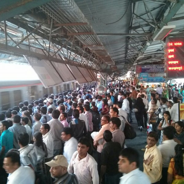Photo taken at Dadar Railway Station by Abhijit T. on 3/3/2013