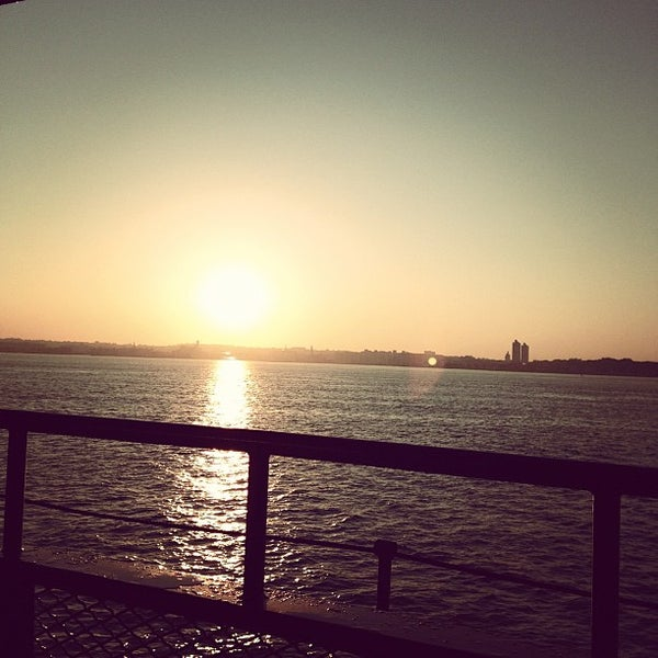 Photo taken at New York Harbor by Jeromy D. on 10/5/2012