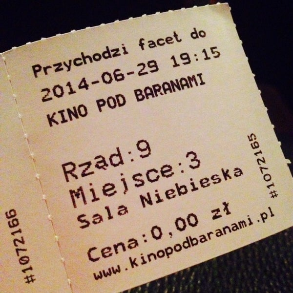 Photo taken at Kino Pod Baranami by Weronika🐼 on 6/29/2014