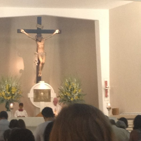 Photo taken at Paróquia Santa Mônica by Maristela C. on 1/5/2013
