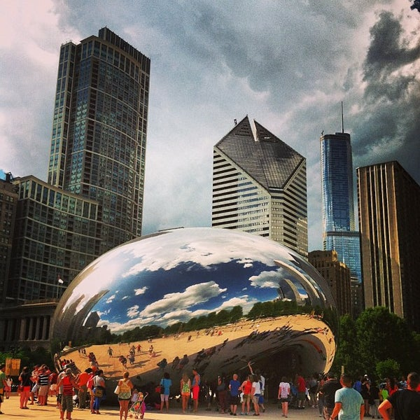 Photo taken at Cloud Gate by Anish Kapoor by Dan V. on 6/28/2013